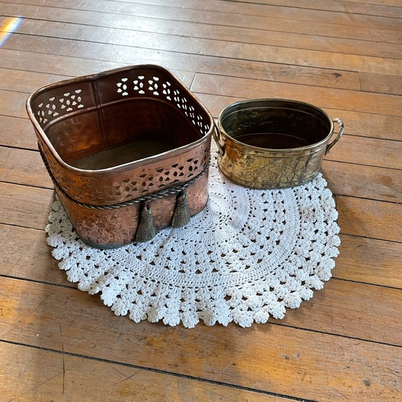 Vintage copper containers
